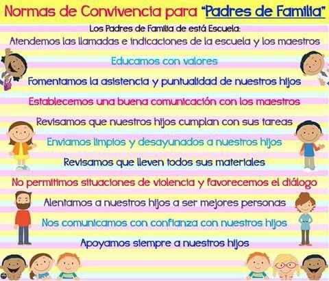 Normas de convivencia para padres de familia | 39 ESCUELA ...
