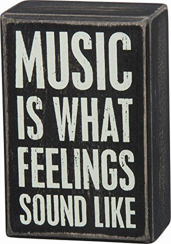 Primitives By Kathy Black Dist. Box Sign - Music Is What Feelings Sound Like images