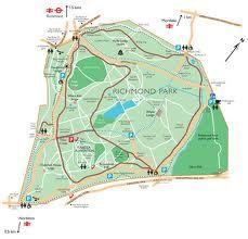 Map of Richmond Park London UK Pinterest Park