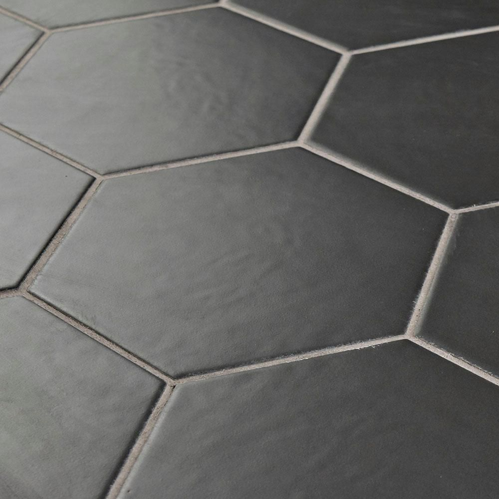 Merola Tile Hexatile Matte Nero Porcelain Floor And Wall Tile 3 In X 4 In Tile Sample S1feq8hmn The Home Depot Porcelain Flooring Flooring Tile Floor
