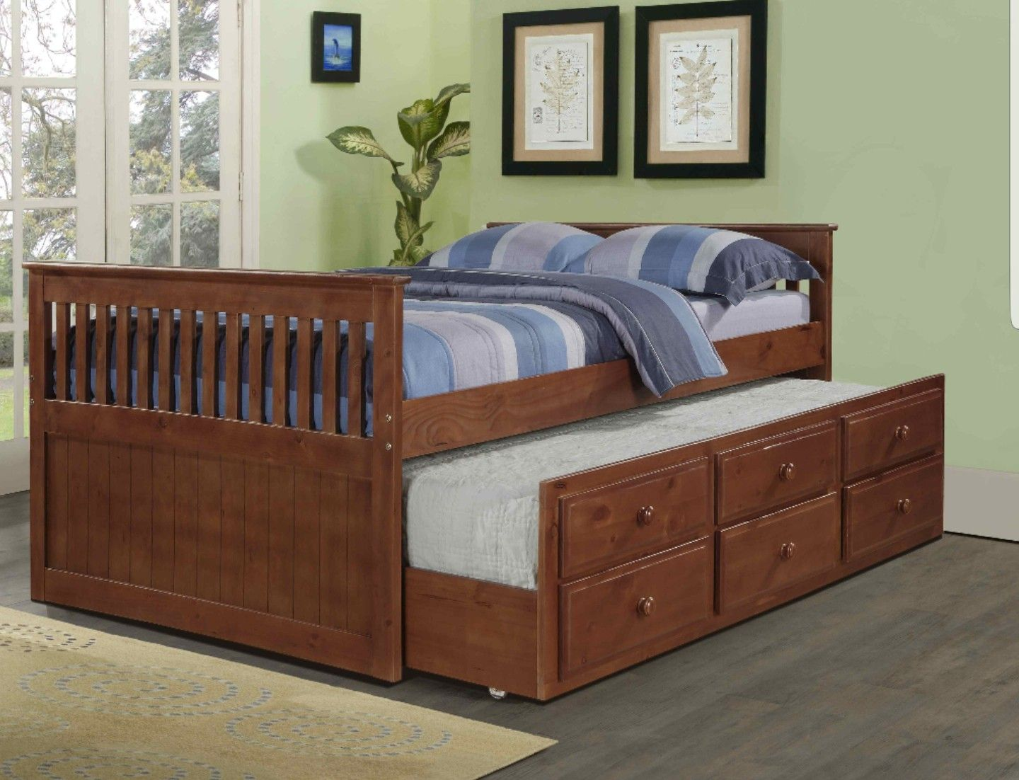 Pin By Chetana Karri On Home Twin Trundle Bed Captains Bed
