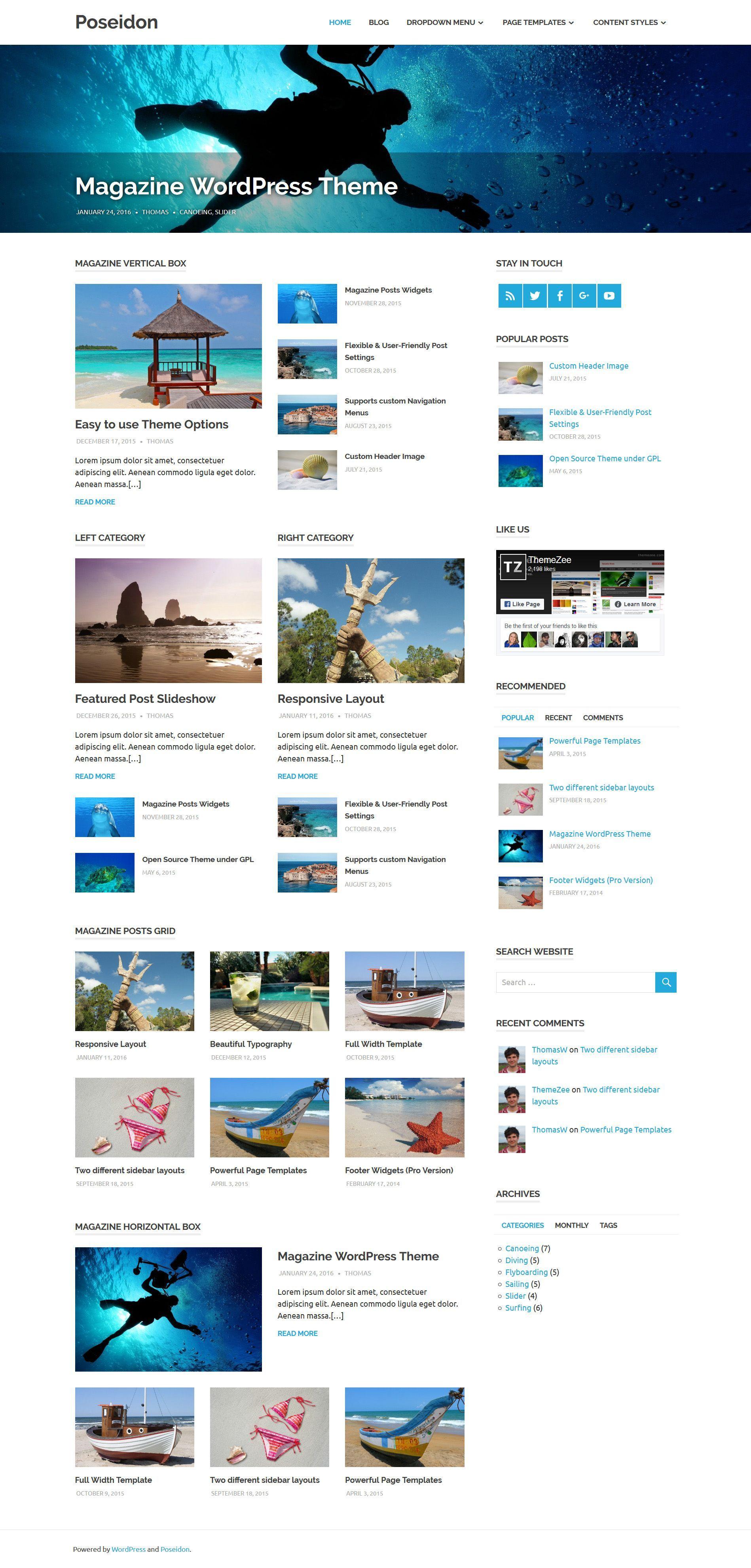 Free Download View Demo Get Hosting Poseidon Is An Elegant Designed