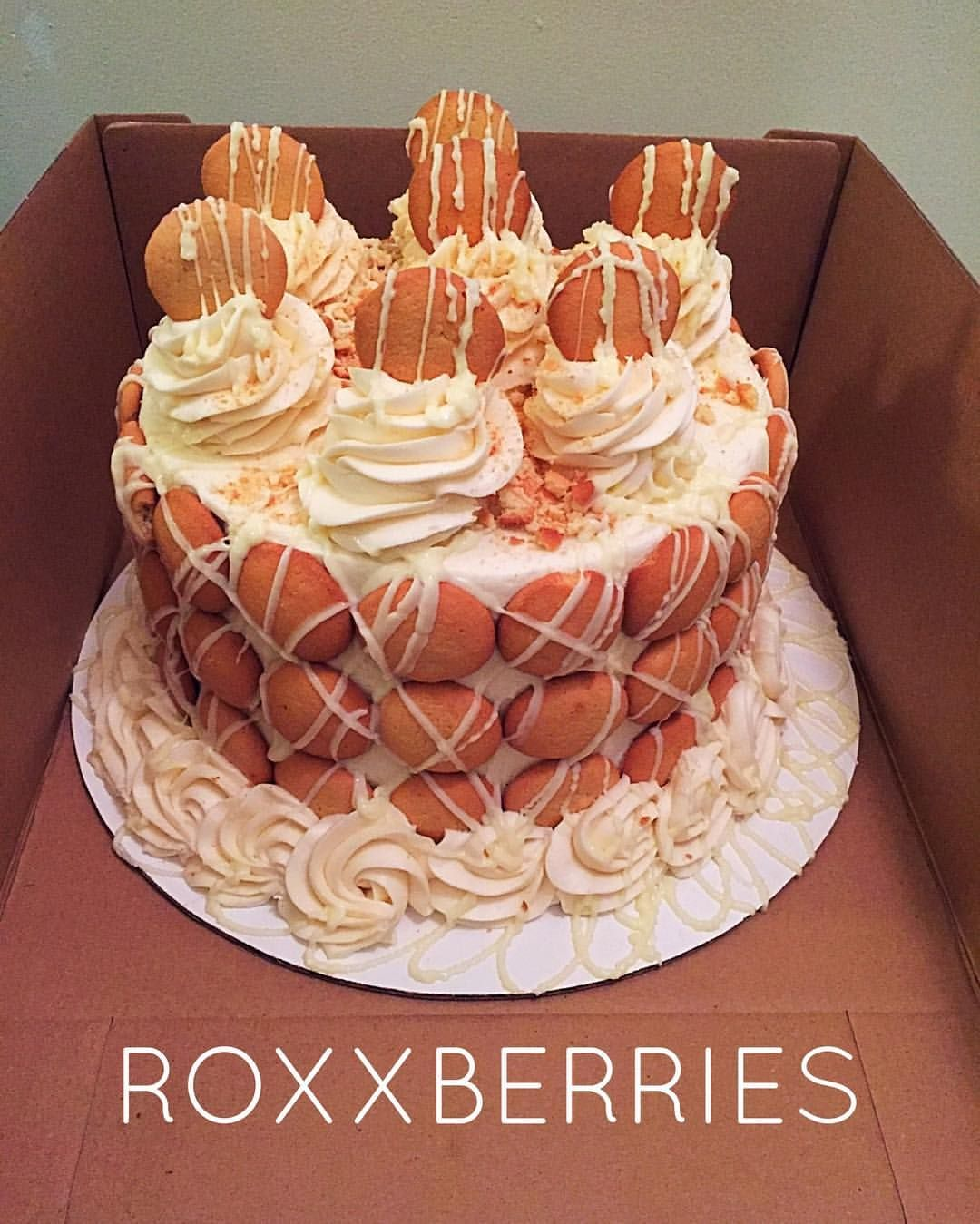 Banana Pudding Cake. RoxxBerries.com