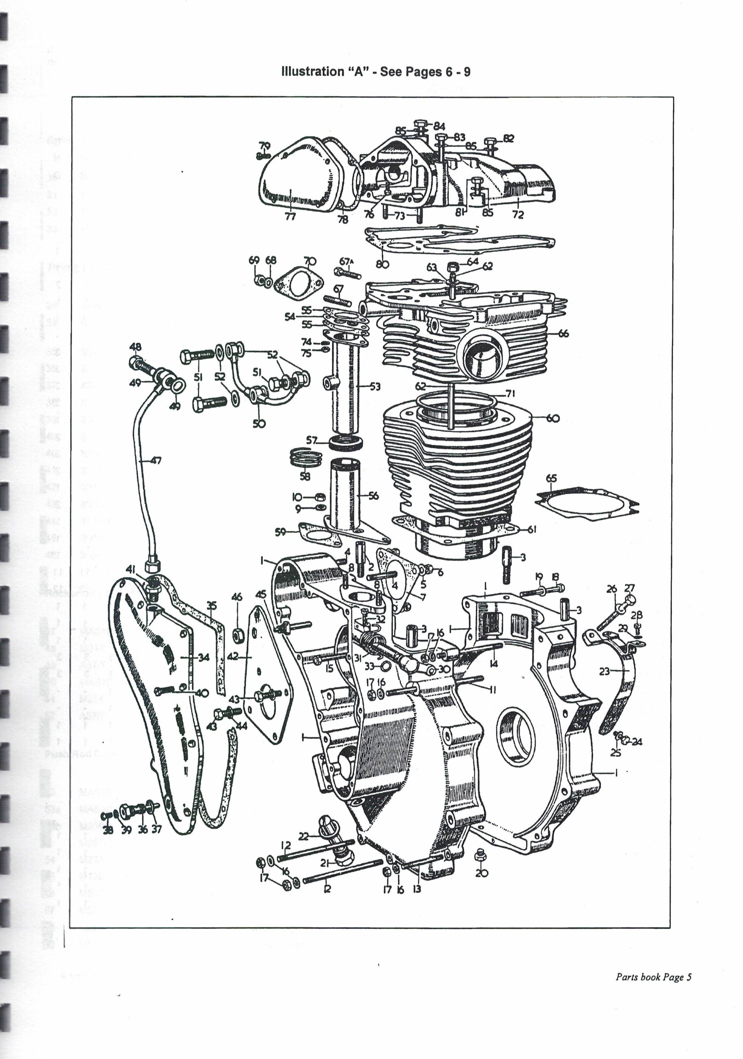 Diagrams Of Engine Clutch Amp Gearbox Part Numbers