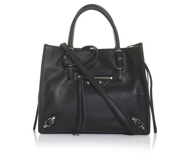 Balenciaga Mini Papier Leather Shoulder Bag