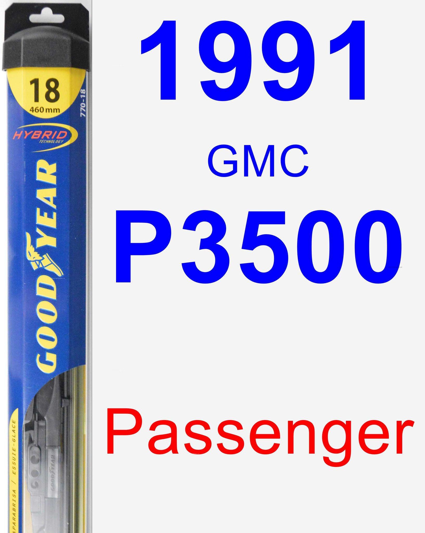 Passenger Wiper Blade For 1991 Gmc P3500 Hybrid Volkswagen Routan Buick Lesabre Audi Coupe