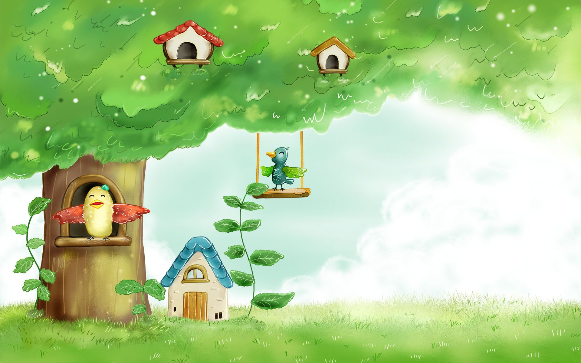 free spring clipart backgrounds cartoon vector illustration spring wallpapers 1920x1200 vector spring [ 1920 x 1200 Pixel ]