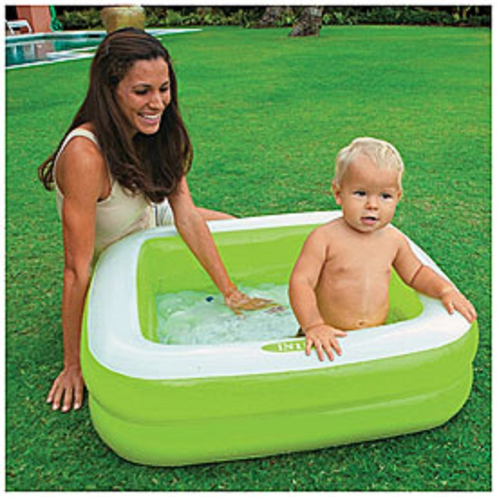 Intex Play Box Pool Baby Inflatable Toddler Kiddie Swimming Bath Square Green Inflatable Baby Pool Baby Pool Pool