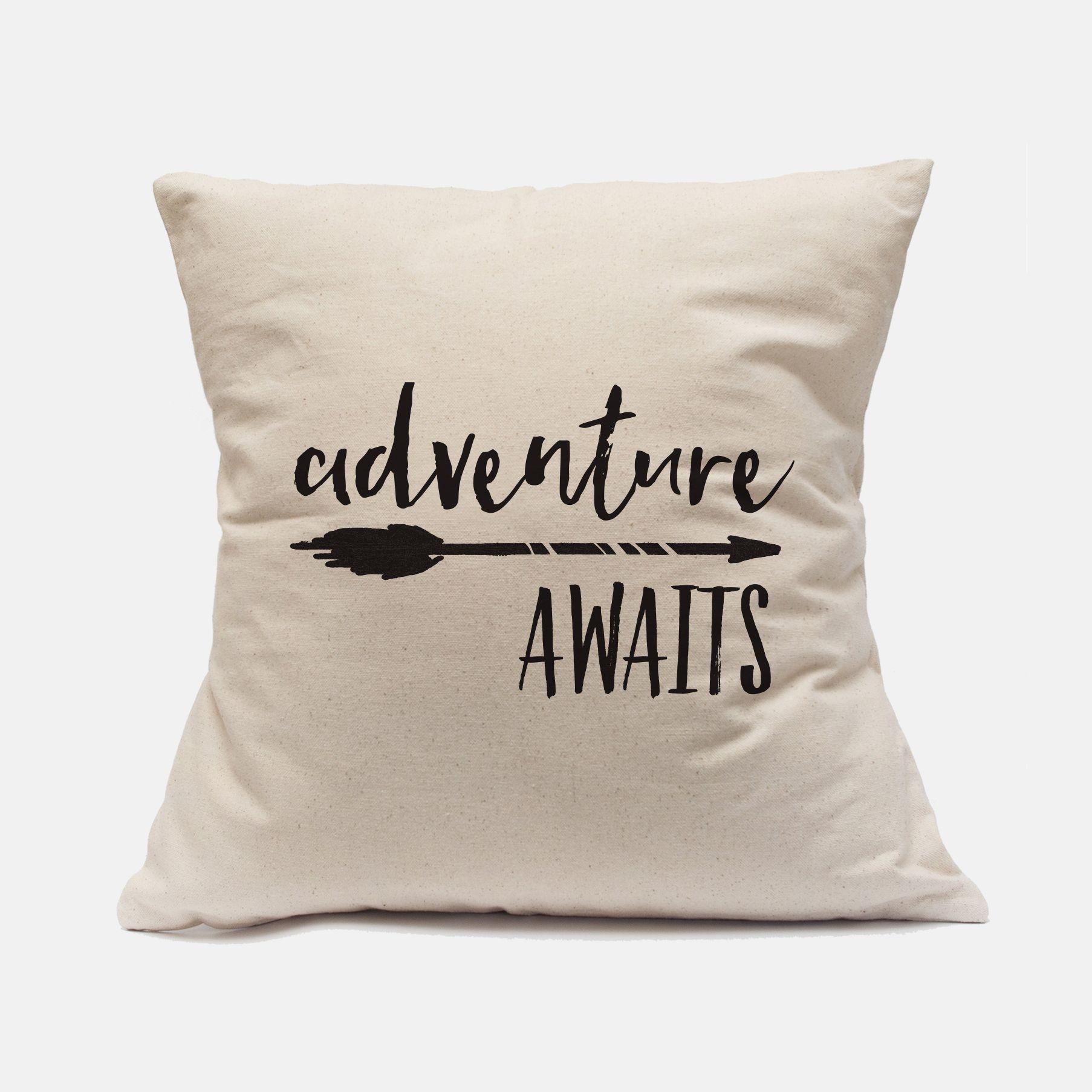 2066f8886b09b Adventure Awaits Pillow Case Nursery Pillow Case Adventure Pillow ...
