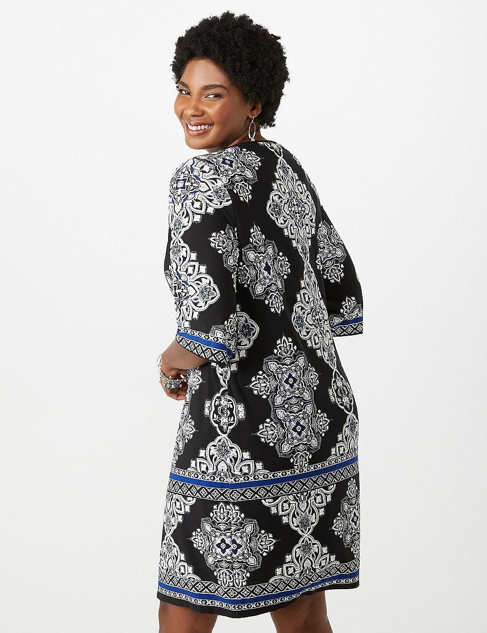 Plus Size Medallion Print Puff Print Dress | dressbarn | I ...