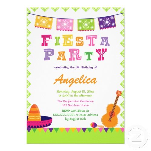 fiesta birthday party ideas invitation design challenge - Mexican Party Invitations