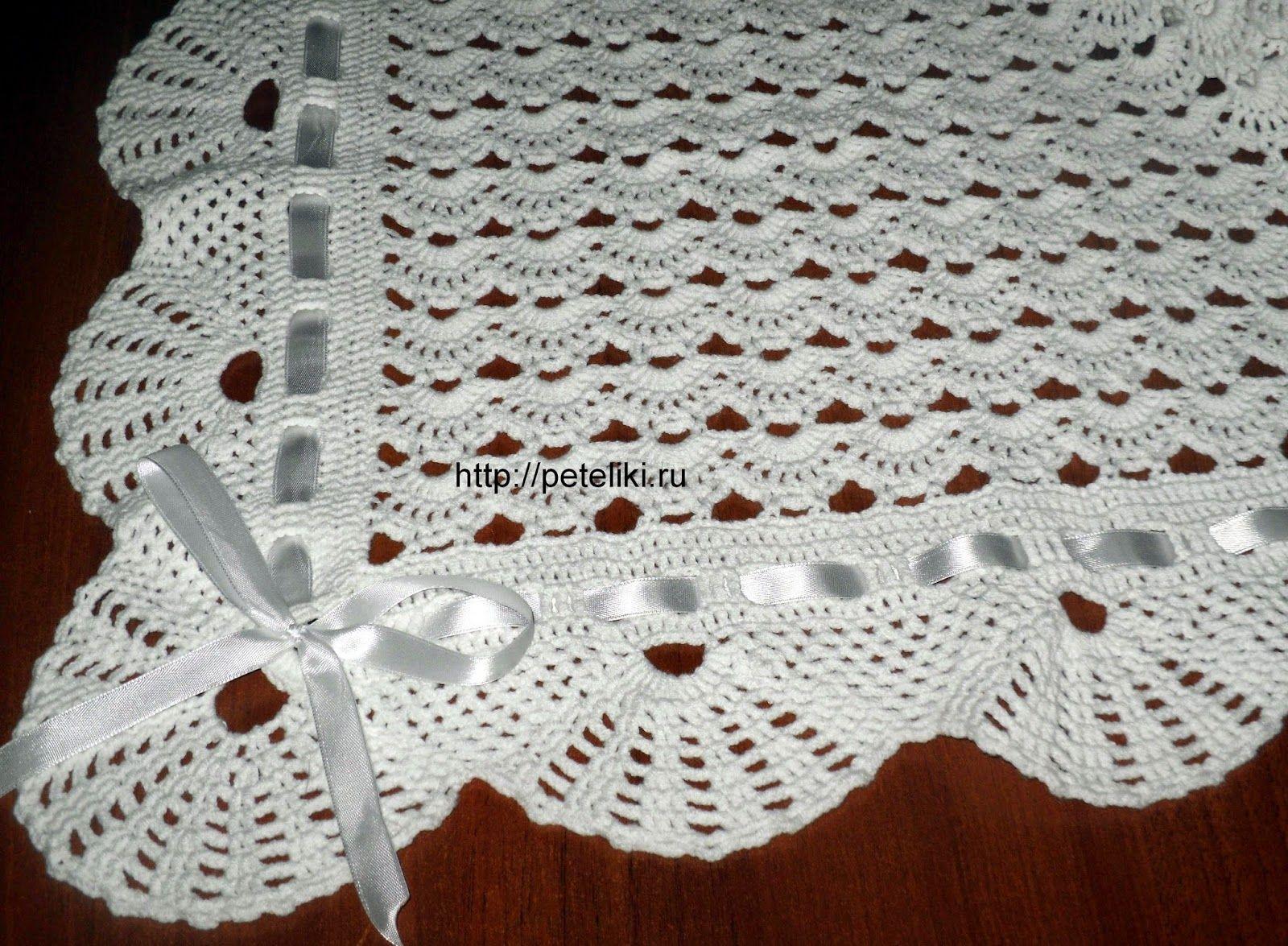 CROCHE COM RECEITA: Manta de crochê em leques para o bebê … | Croche ...