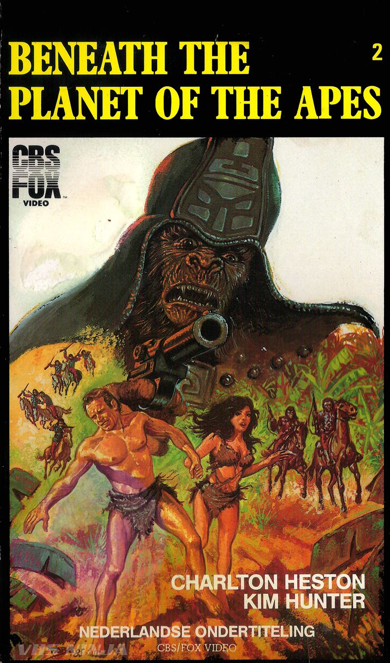 Vhs Ninja Beneath The Planet Of The Apes 1970 By Ted Post Planet Of The Apes Movie Posters Vintage Apes