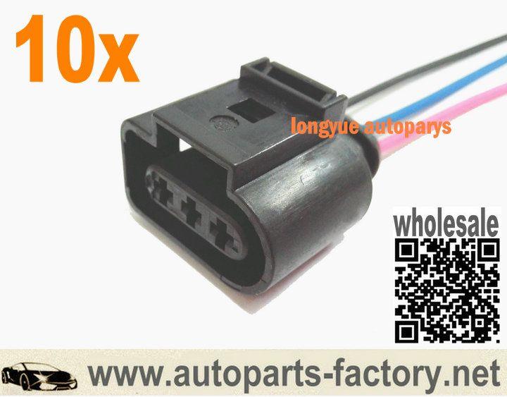 Longyue 3pin Camshaft Position Sensor Pigtail Plug 1j0973723 99 05 Vw Jetta Golf Beetle Vw Jetta Beetle Plugs