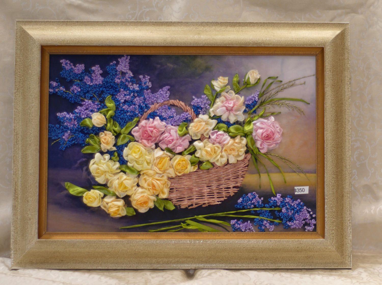 Ribbon embroidery wall art d silk ribbon wall art x