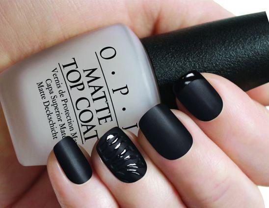 nagellack schwarz matt nageldesign bilder nail polish und nails