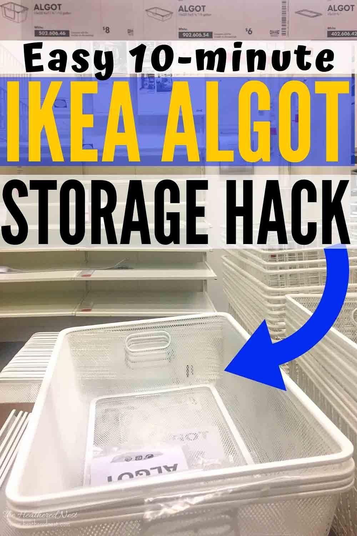 10 Min Ikea Storage Hack No Tools Required Ikea Under Bed