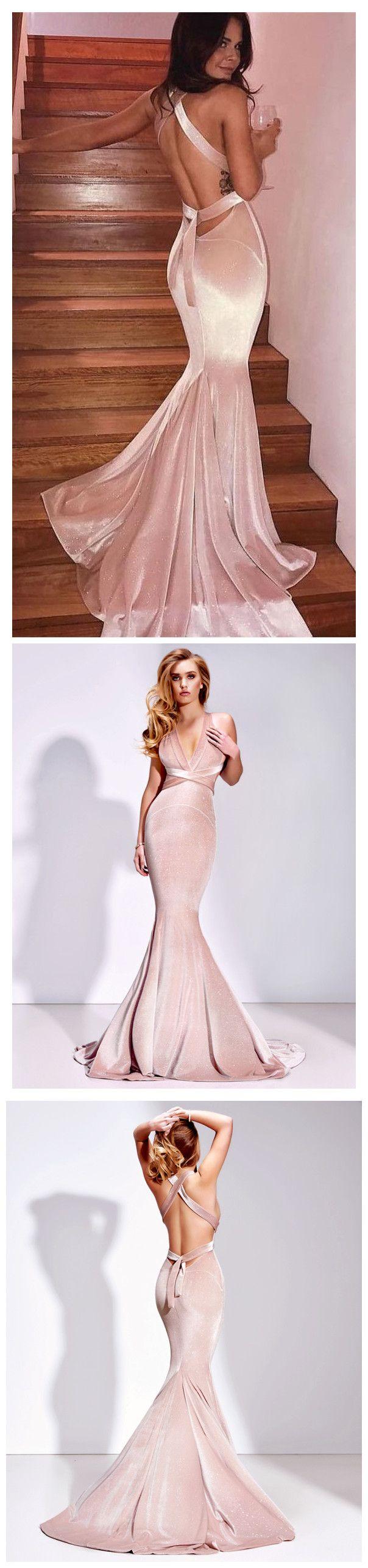 dress pink velvet long dress mermaid dress gorgeous v neck