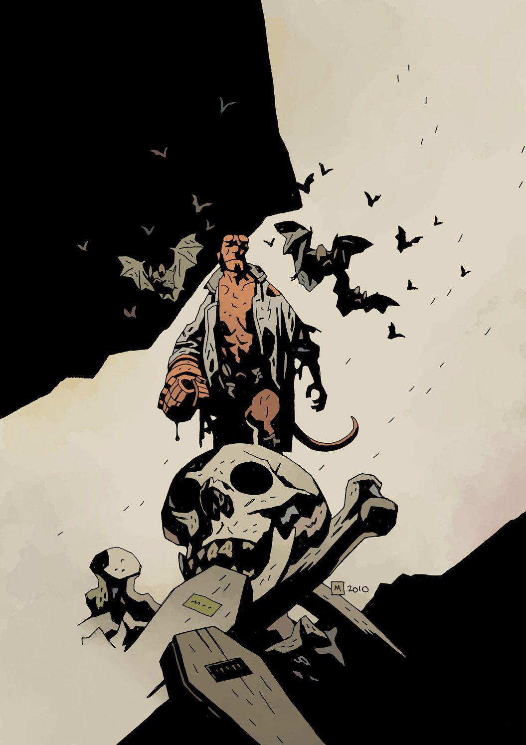 Hellboy | Hellboy | Mike mignola art, Mike mignola, Comic books