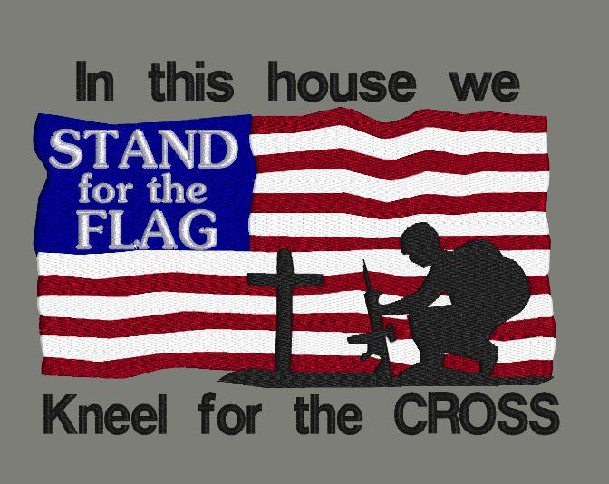 In This House We Stand For The Flag 5x7 #americanflag