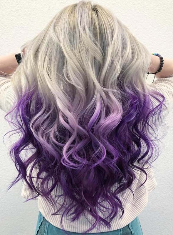 Like before this time we again posted here fantastic ideas of ice blonde to purple hair colors for long and medium length haircuts. Must copy this color for amazing hair color looks.