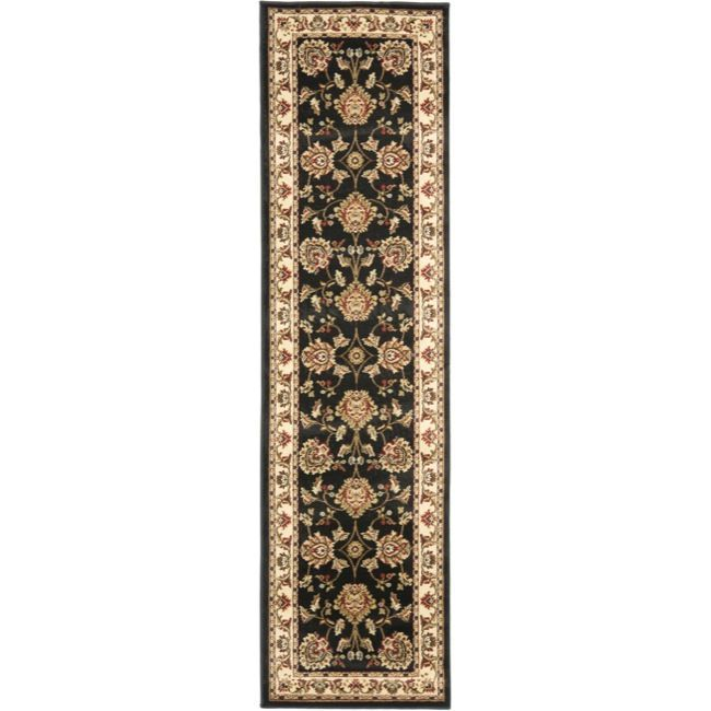 Adorn your home or office hallway with this traditional ivory rug that stretches a full 16 feet. This runner rug has an ornate Oriental design that disguises spills and stains, and it features a medium-plush pile that keeps waiting guests comfortable.
