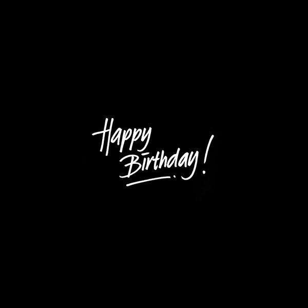 Wallpaper Ap54 Happy Birthday Dark Event Writing