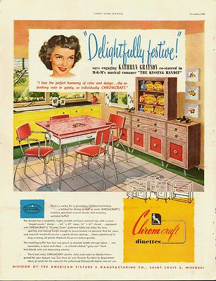 Best 1948 Vintage Ad For Chromcraft Dinettes 40 S Kitchen Scene 400 x 300