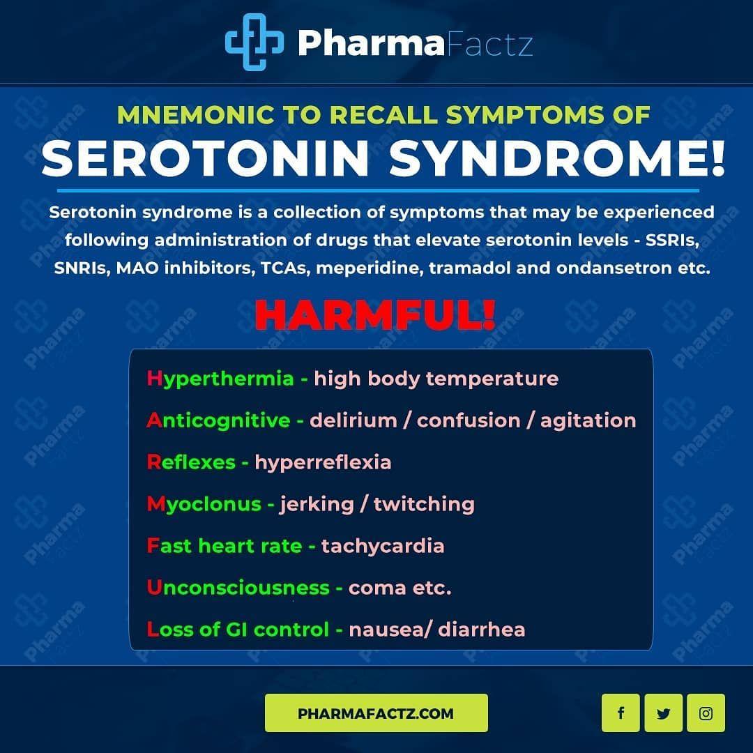Pharmafactz On Instagram Mnemonic Serotonin Syndrome