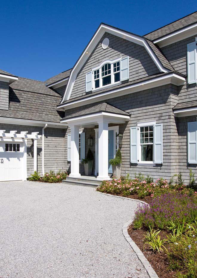 Coastal Chic Shingle Style Gambrel Home In Sunny Florida Beach House Exterior Shingle Style Gambrel