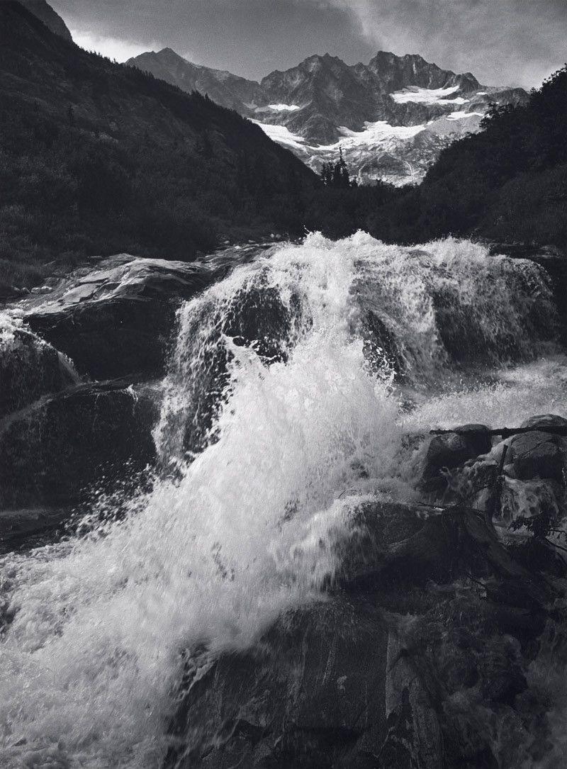 Ansel Adams. \'Waterfall, Northern Cascades, Washington\' 1960 ...