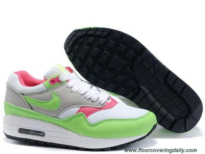 best sneakers 8dc8f d3721 Discounts Nike Air Max 1 White Electric Green Neutral Grey Pink 308866-100  Womens