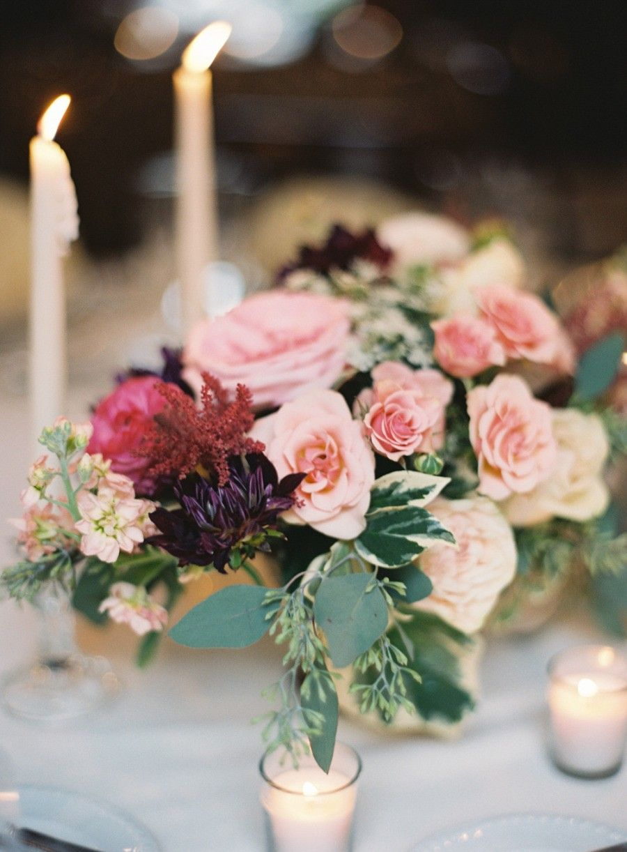 Wedding decoration ideas burgundy  Sophisticated New York Wedding at the Village Club of Sands Point