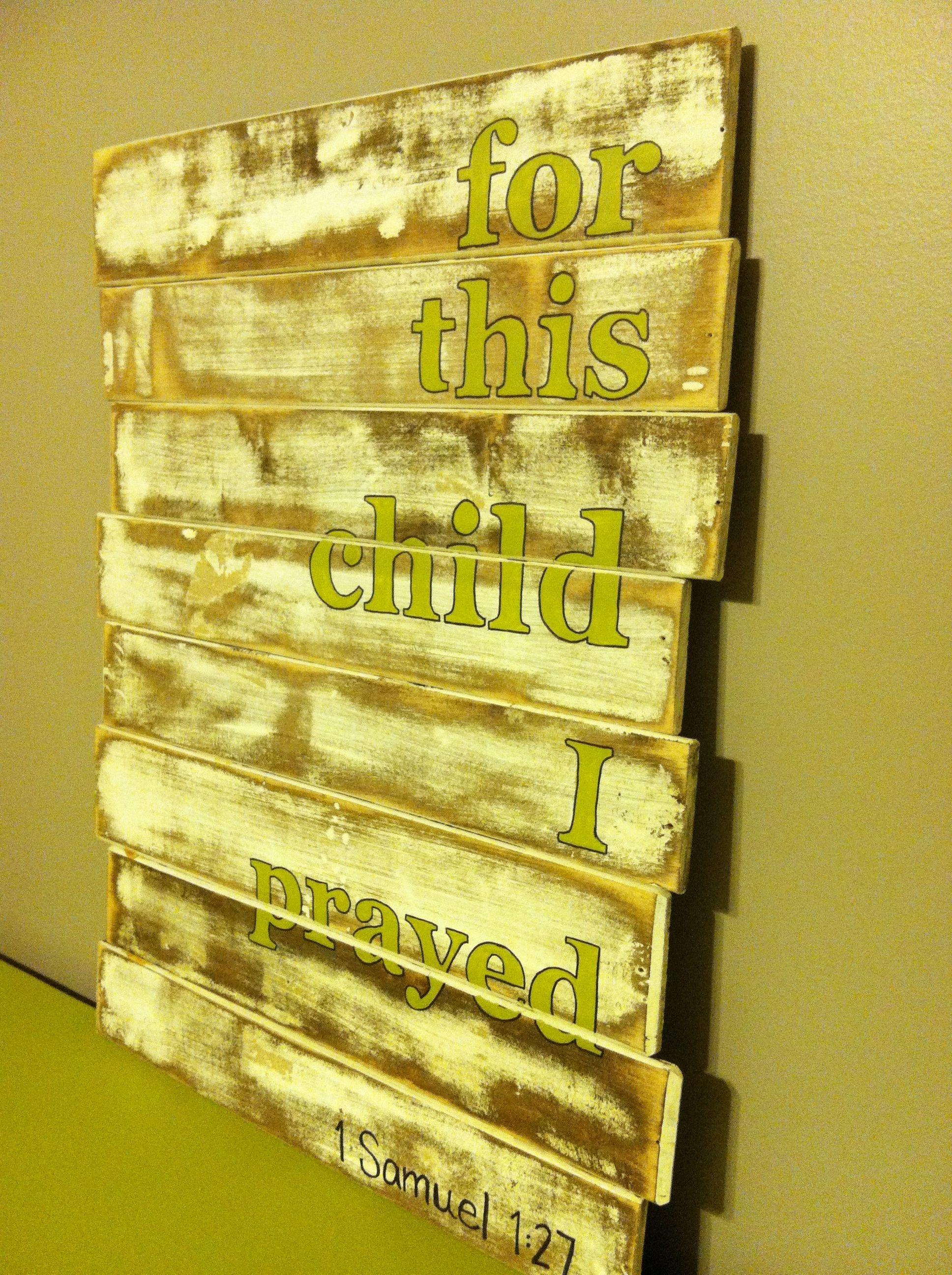 Nursery wall art; scripture | I did it | Pinterest | Nursery, Babies ...