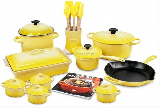 Le Creuset Cookware Set Yellow 20-częściowy zestaw garnków Le Creuset SOLEIL - Sklep internetowy