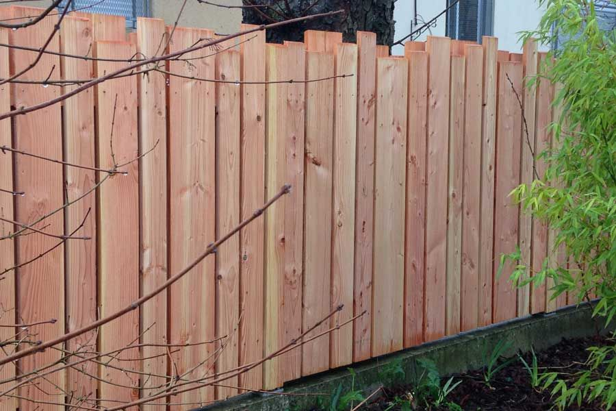 palissade douglas cloture jardin bois