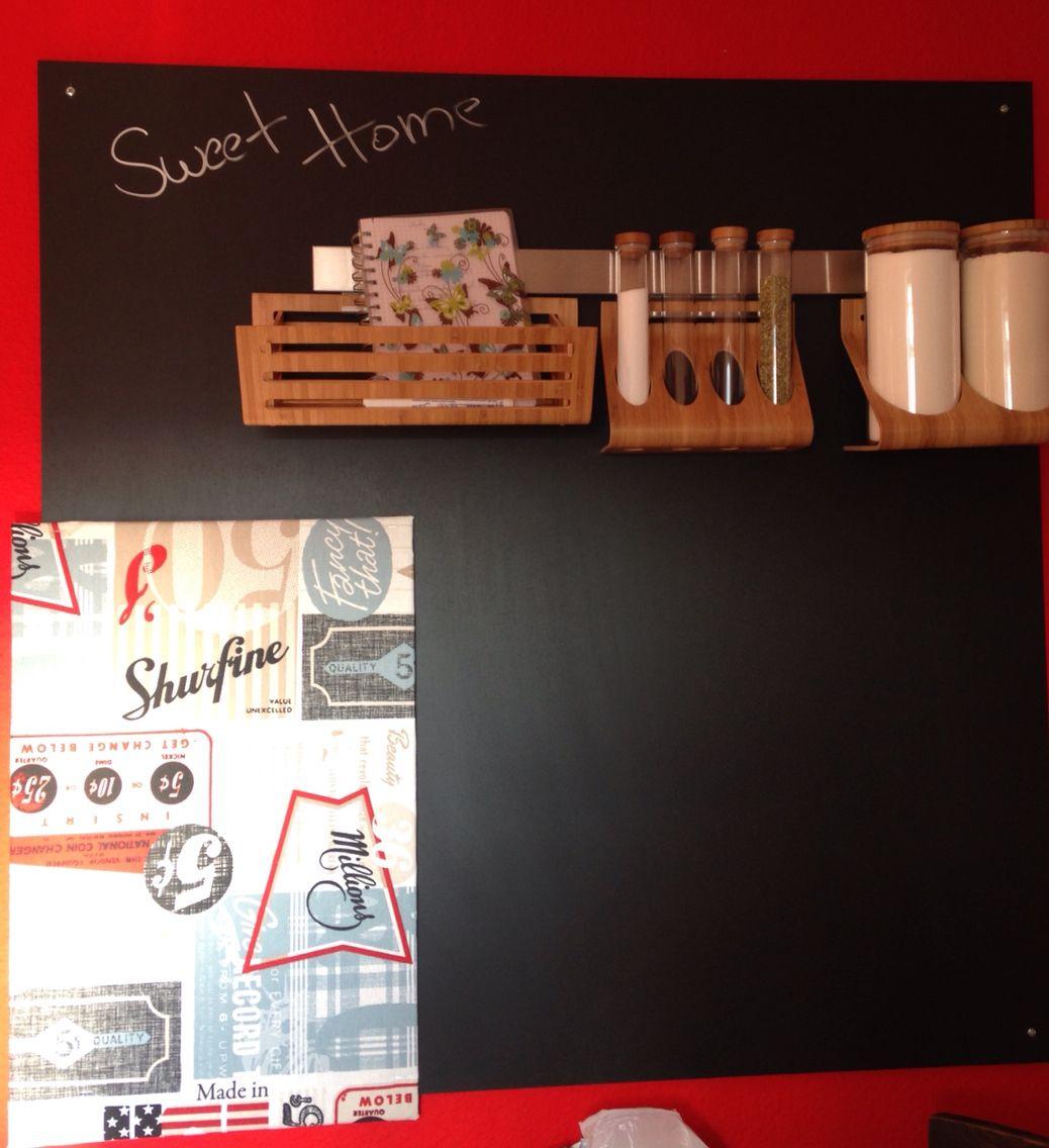 memo board das brauchen sie eine holz oder mdf platte tafelfarbe oder magnetfarbe. Black Bedroom Furniture Sets. Home Design Ideas