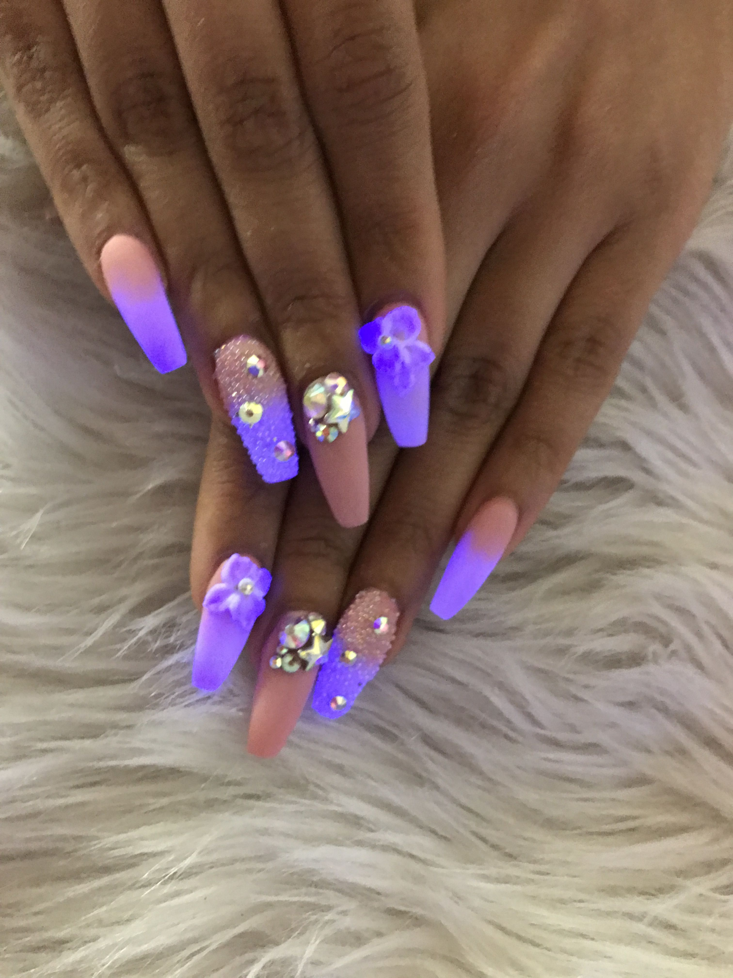 Glow In The Dark Nails By Donny At 6210 Annapolis Rd Hyattsville Md 20784