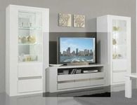 Meuble Tv Plasma Tania Laque Blanc Meuble Tv Design Meuble Tele