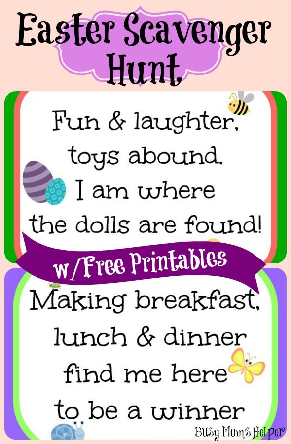 Easter scavenger hunt free printables busy moms helper easter scavenger hunt free printables negle Image collections