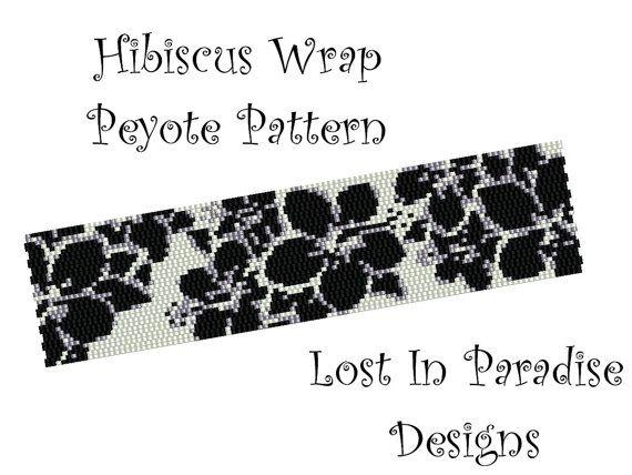 Peyote Bracelet Pattern  Hibiscus Wrap  Peyote by LostInParadise, $6.50