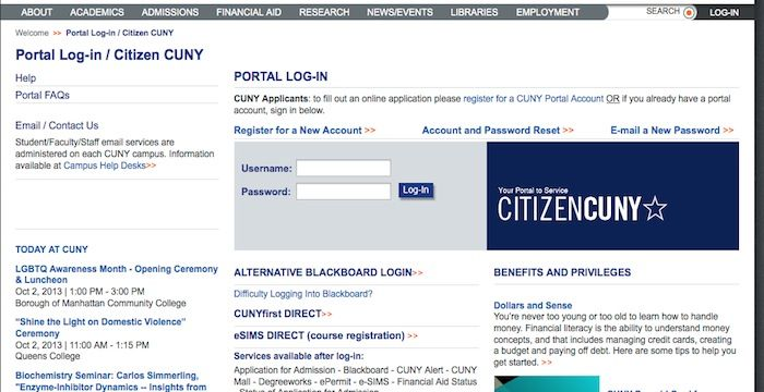 CUNY Portal Login | Login Archives | Portal, Login page, Website