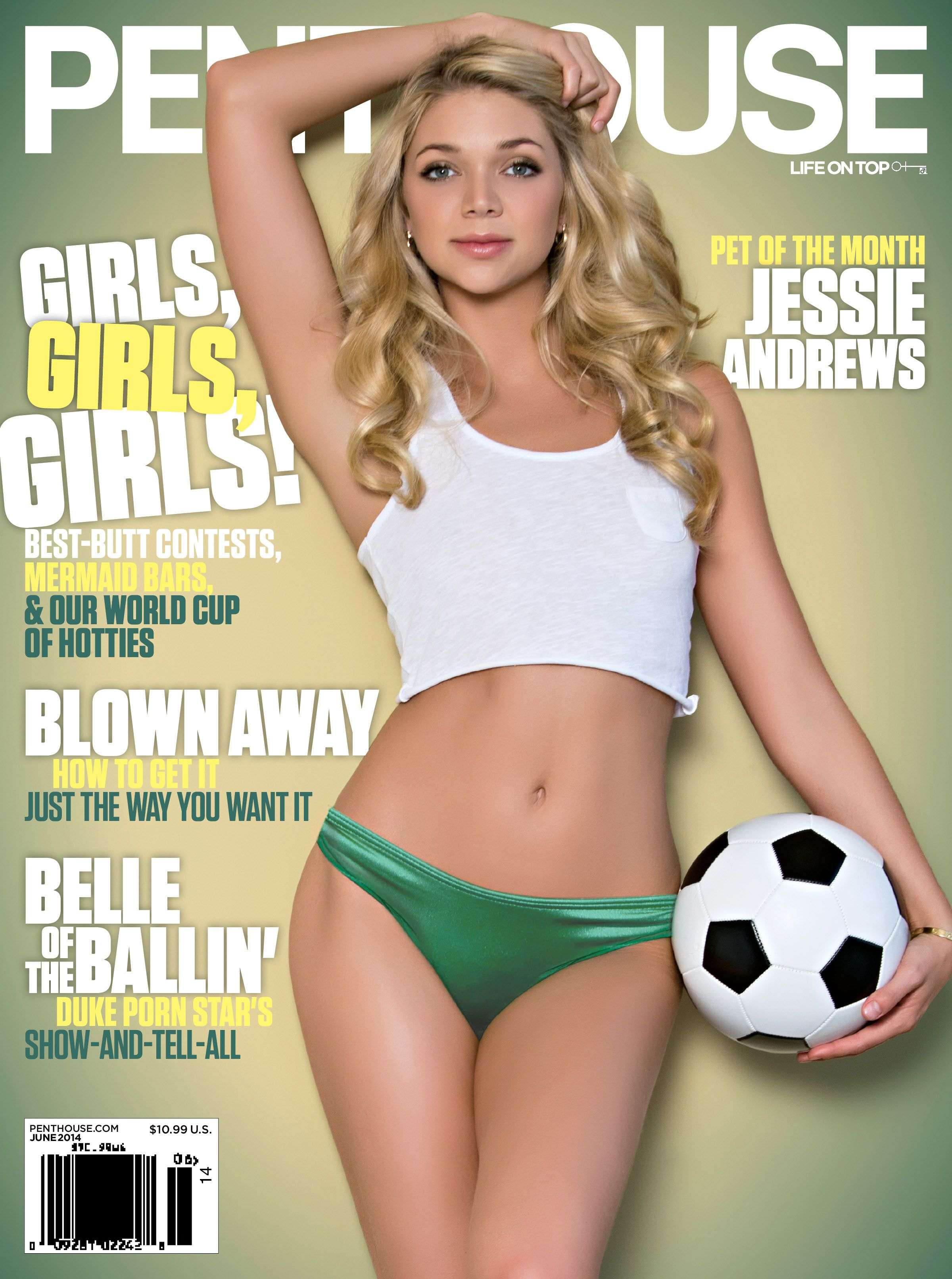 jessie andrews - june pet of the month | 2014 penthouse magazines
