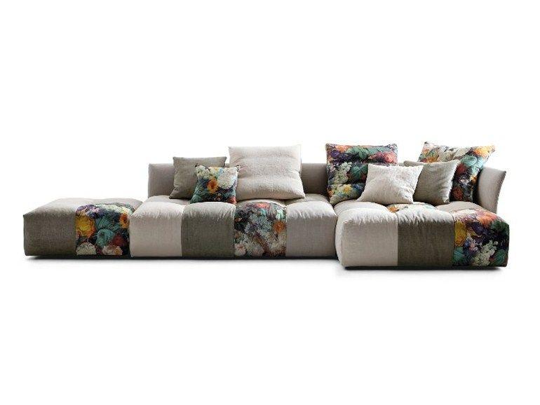 Modular upholstered sofa PIXEL by Saba Italia design Sergio Bicego