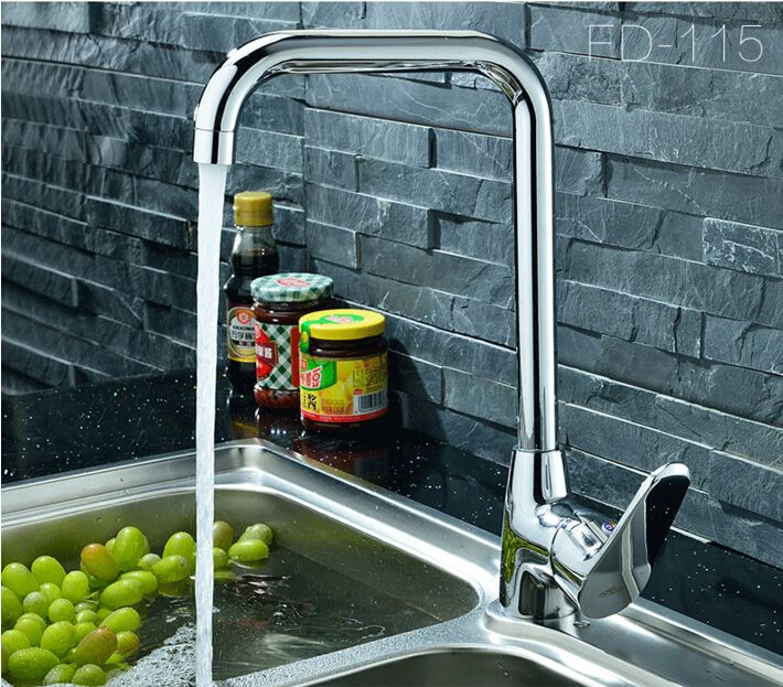 Fashion High Quality Brass Kitchen Sink Faucet Hot And Cold Single Lever Sink Tap Mixer Brass Kitchen Sink Kitchen Sink Faucets Sink Taps