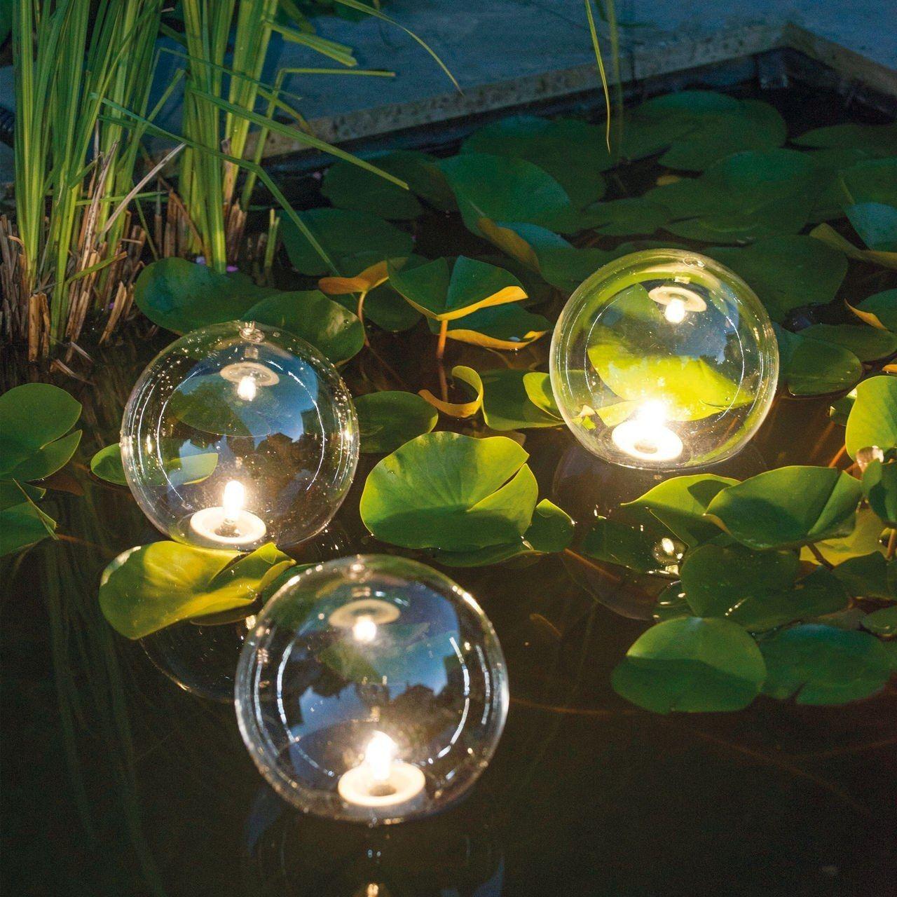 Beleuchtete Traumkugeln Fur Teich Garten Teichbeleuchtung Teichlichter Led