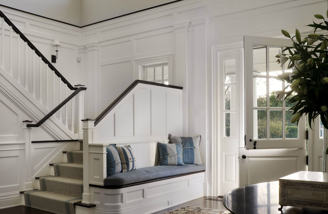 Love The Idea Of A Built In Next To The Stairs. Foyer BenchEntryway ...