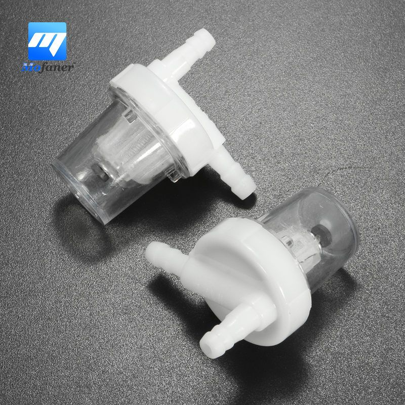 A Pair Clear Universal 1 4 6mm Motorcycle Petrol Fuel Filter Fits