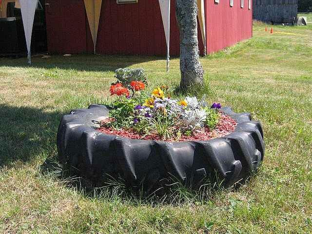 Tractor Tire Flower Bed Tire Planters Flower Planters Garden