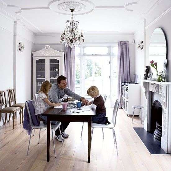 Elegant victorian terrace house tour victorian terrace for Victorian terrace dining room ideas